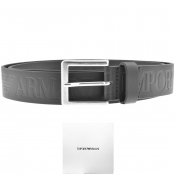 Product Image for Emporio Armani Logo Leather Belt Black